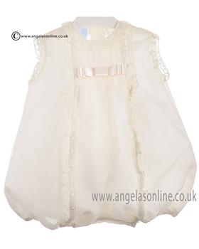 Granlei Baby Girls Lace Romper 1-571 Cream