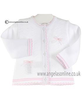 Pex Baby Girls Cardigan B6363 White