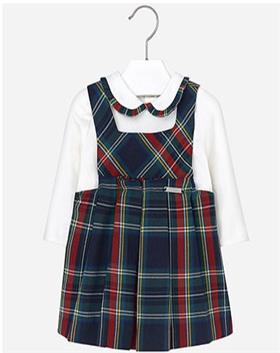 Mayoral Baby Girls Blouse & Pinafore 2962-16 Navy