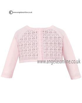 Sarah Louise Baby Girls Knitted Cardigan 006687 Pink