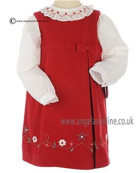 Sarah Louise Girls Blouse & Pinafore 010511-010567 Red
