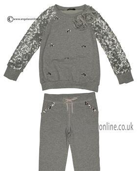 Kate Mack Girls Jumper & Jog Pants 526-533SS Grey