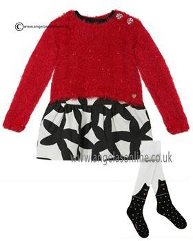 Catimini girls dress and tights CI30073/94013