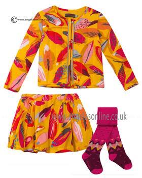 Catimini girls skirt jacket top & tights CI40053-10083-27063