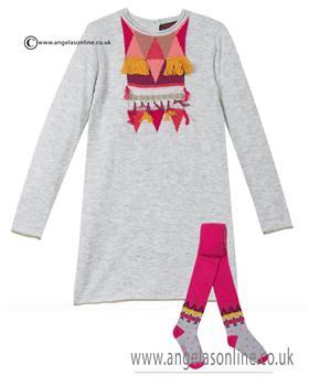 Catimini girl knittted dress & tights CI30143-94073