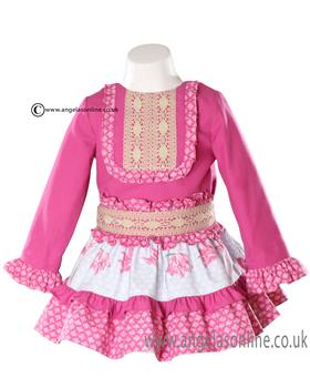 Miranda girls blouse & skirt 20-0261-0261-F Pink