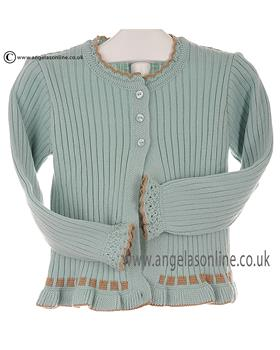 Granlei Girls Knitted Cardigan 2-1198 Green
