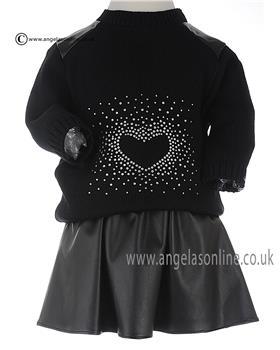 Bufi Girls Jumper & Skirt 9824 Black