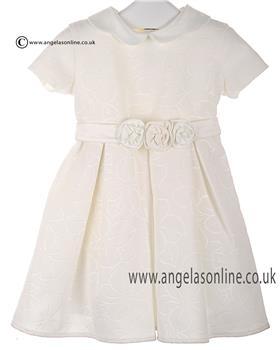 Bufi Girls Flower Print Dress 9822A Cream