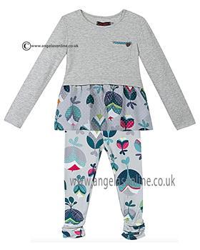 Catimini girls jersey tunic top & leggings CI19013-24043