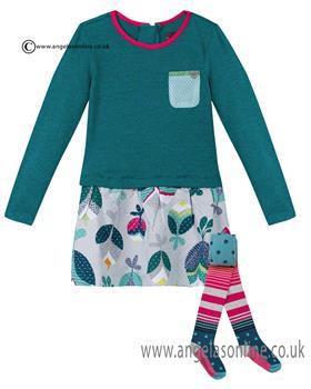 Catimini girls dress & tights CI30033-94003