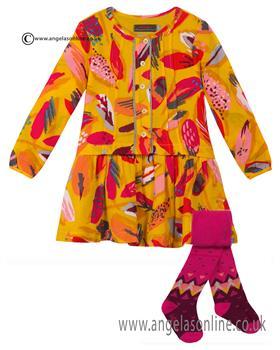 Catimini girls dress & tights CI30103-94073
