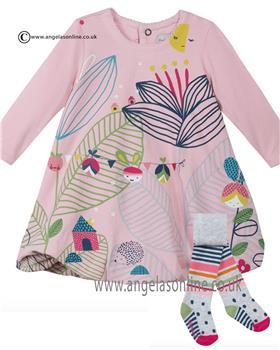 Catimini Baby Girls Dress & Tights CI30211-CI94011