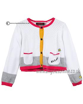 Catimini girls knitted cardigan CJ18083 White