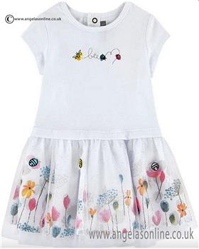 Catimini girls glitter bee dress & leggings CJ30211-24011 White