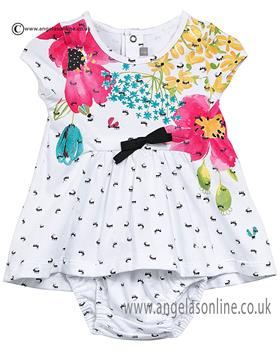 Catimini girls frill dress & knicks CJ30161