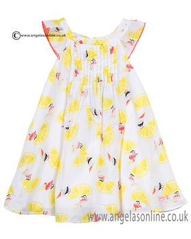 Catimini girls dress CJ30173 Lemon