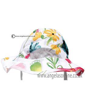 Catimini girls floral summer hat CJ90041