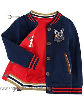 Catimini boys reversibe jacket CJ17022 Navy