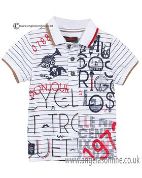 Catimini boys polo shirt CJ11072 white