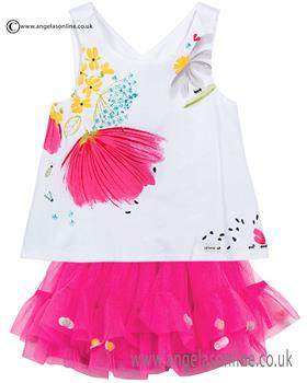 Catimini girls top & skirt CJ19033-27073