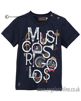 Catimini boys round neck T shirt CJ10072 Navy