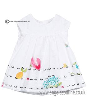 Catimini girls dress & knicks CJ30141 White