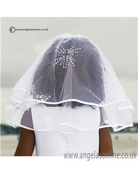 Sarah Louise Communion veil 055002CP