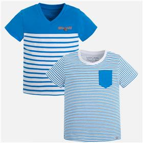 Mayoral boys T-shirt x 2 3013-17 Royal Blue