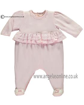 Emile et rose girls all in one with feet Lucia 1718pp-17 Pink