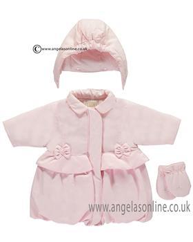 Emile et Rose girls jacket & mitts Lara 9270pp-17 Pink