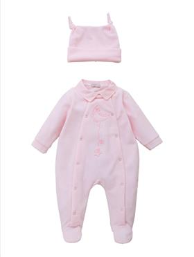 Co Co Baby Girls Babygrow 3 Piece A6004-17 Pink