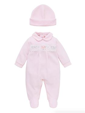 Co Co Baby Girls Babygrow & Hat A6006-17 Pink