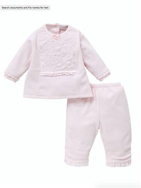 Co Co Baby Girls Top & Trouser A6021-17 Pink