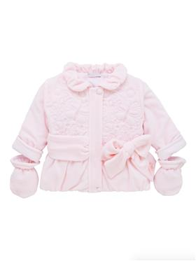 Co Co Baby Girls Jacket & Mittens A6023-17 Pink