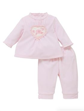 Co Co Baby Girls Top & Trousers A6025-17 Pink