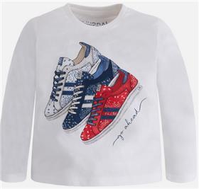 Mayoral boys T shirt 4007-17 Cream