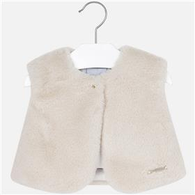 Mayoral Baby Girls Fur Gillet 2461-17 Beige