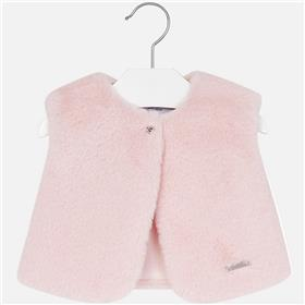 Mayoral Baby Girls Fur Gillet 2461-17 Pink