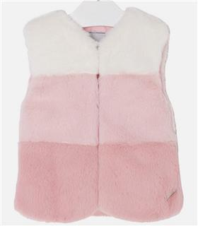 Mayoral girls fur gilet 4439-17 Pink