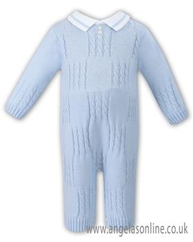 Sarah Louise boys all in one 008037-17 Bl/Wh