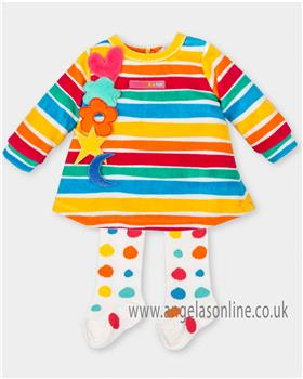 Agatha Ruiz girls velour dress 4493-17 AS SAMPLE