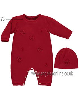 Emile et Rose girls all in one with hat Liz 1716rd-17 Red