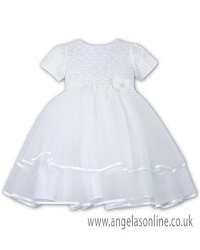 Sarah Louise Christening Dress 070015/10171 White