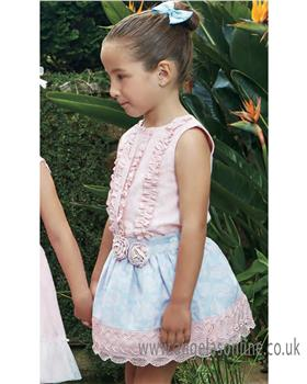 Miranda girls summer blouse & skirt 23-0221-2F