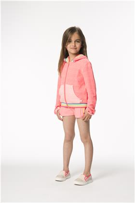 Billieblush girls T shirt jacket & shorts U14238-15513-15474