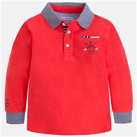 Mayoral Boys Long Sleeve Polo 3182-18 Red