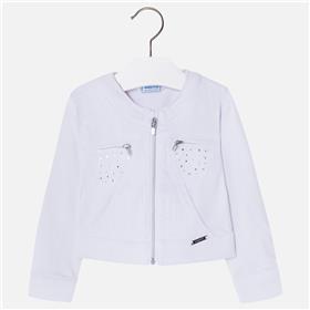 Mayoral girls summer bomber jacket 3414-18 White