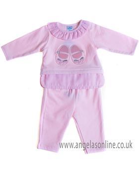 Sardon baby girls jogsuit CO-451 Pink