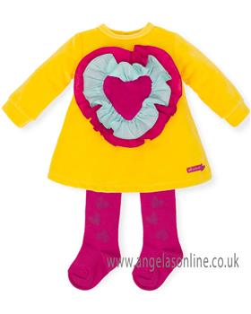 Agatha Ruiz Baby Girls Dress 6491-18 Yellow